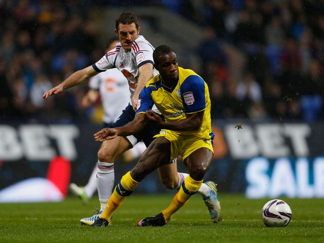 Sam Ricketts and Michail Antonio battle for the ball