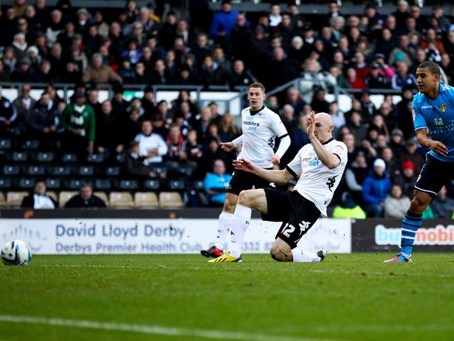 Conor Sammon gives Derby a 15th-minute lead