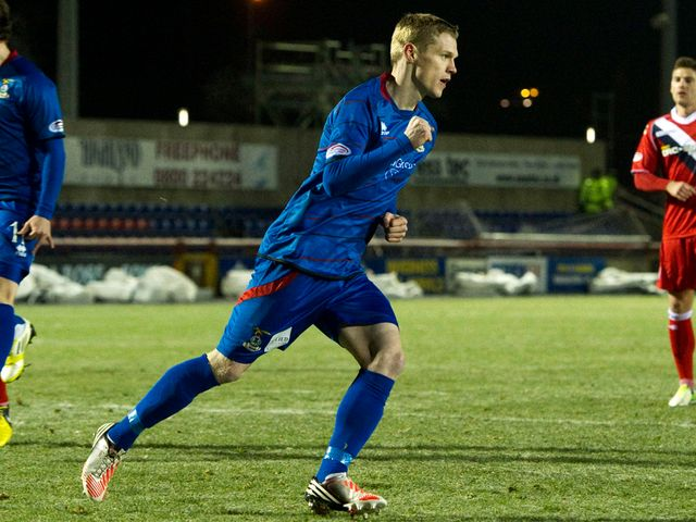 Billy McKay celebrates after giving Inverness the lead