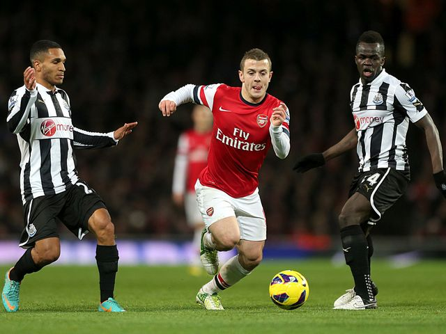 Jack Wilshere bursts through the middle