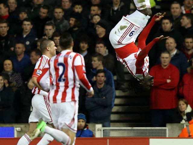 Stoke celebrate against Liverpool