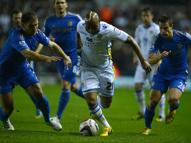 El-Hadji Diouf looks to charge forward.