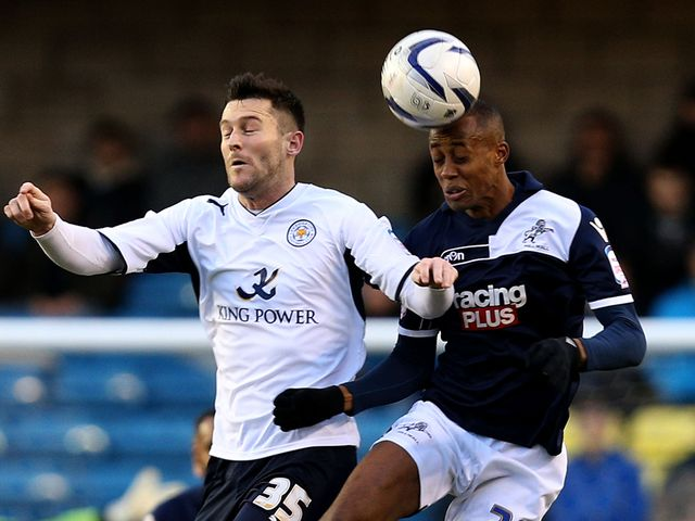 David Nugent and Nadjim Abdou go for a high ball