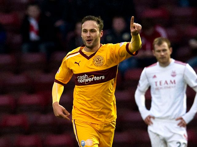 Tom Hateley celebrates his opening goal