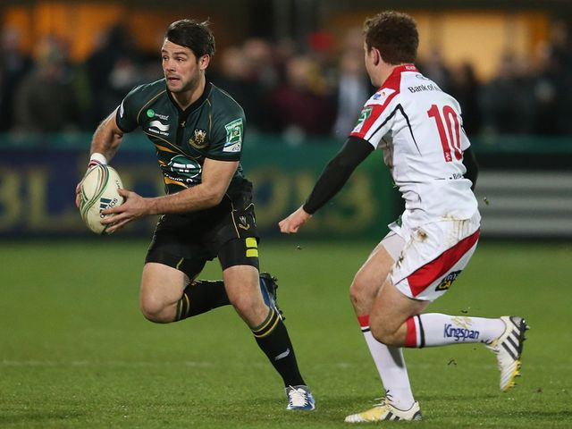 Ben Foden in action for Northampton.
