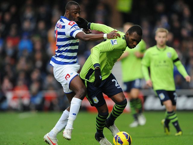 Diakite and Benkete battle for the ball