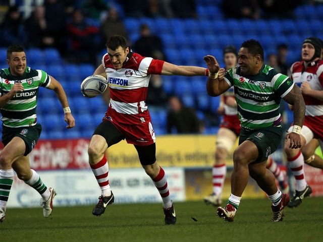 Shane Monahan on the charge for Gloucester