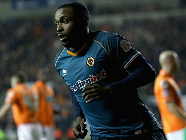 Sylvan Ebanks Blake celebrates his early goal