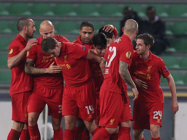 Jordan Henderson celebrates his vital goal