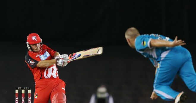 Aaron Finch (L): Top scored for Melbourne Renegades with 33