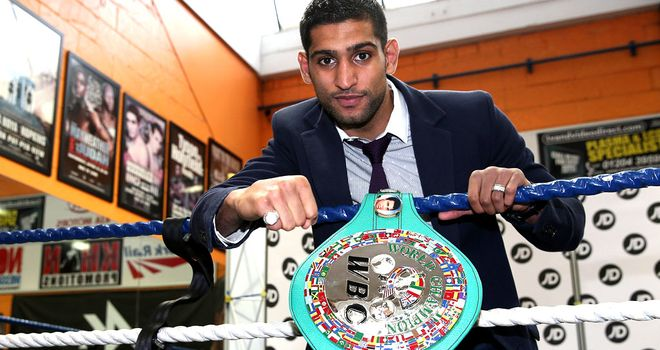 Amir Khan: Bolton fighter to return to action in the UK in Sheffield on April 27