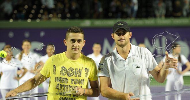 Nicolas Almagro beat Andy Roddick 6-4 7-5 in the Miami Tennis Cup exhibition final