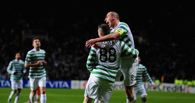 Gary Hooper: Fired Celtic ahead against Spartak Moscow