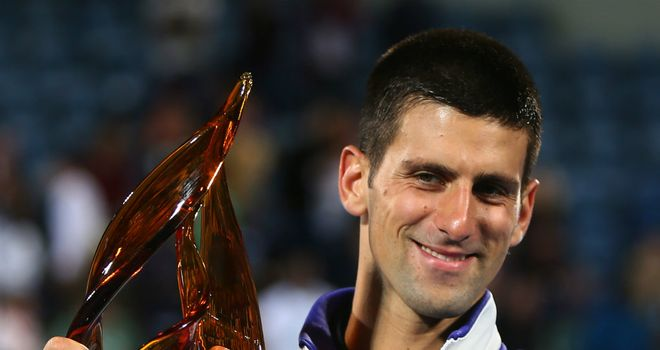 Novak Djokovic: Title joy in Abu Dhabi