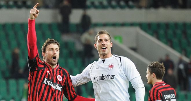 Eintracht celebrate their victory