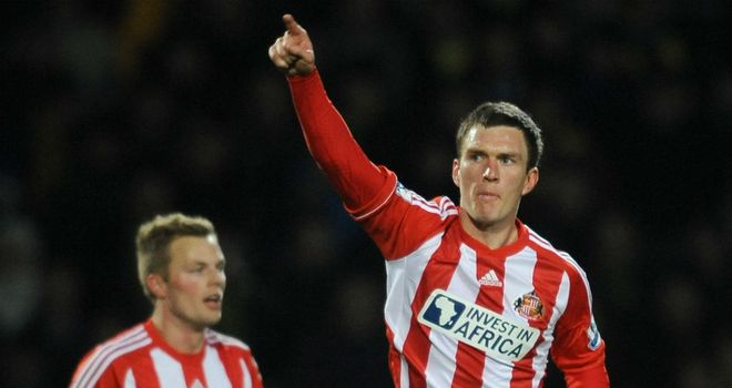 Craig Gardner: Scored but could not save Sunderland from defeat against Norwich