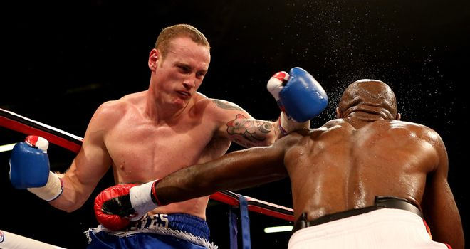 George Groves: In action against Glen Johnson in December