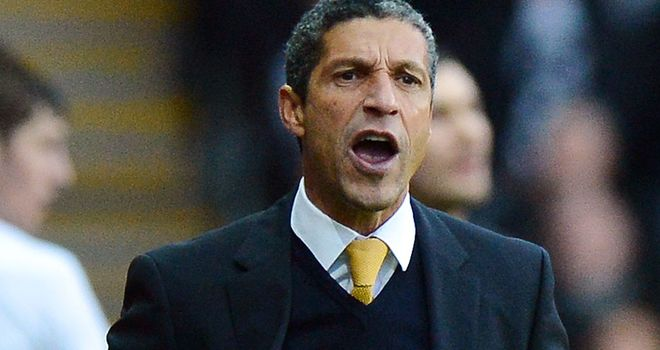 Chris Hughton: Has taken positives despite Norwich's losing streak