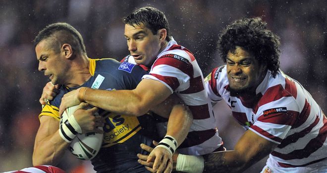 Ian Kirke (left): Would be happy finishing his career with the Leeds Rhinos