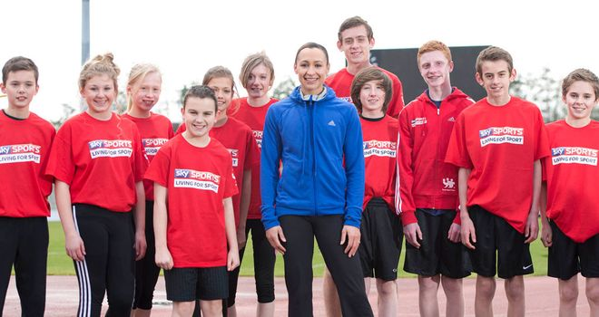 Jessica Ennis: has become an Ambassador for Sky Sports Living for Sport