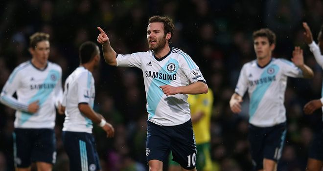 Juan Mata: Has 13 goals in all competitions this season