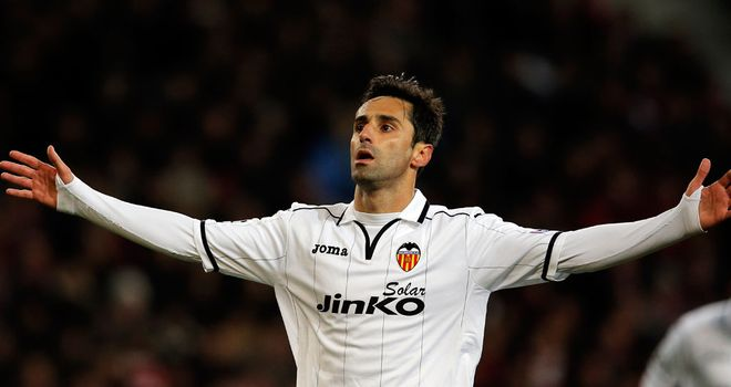 Jonas: Celebrates scoring for Valencia