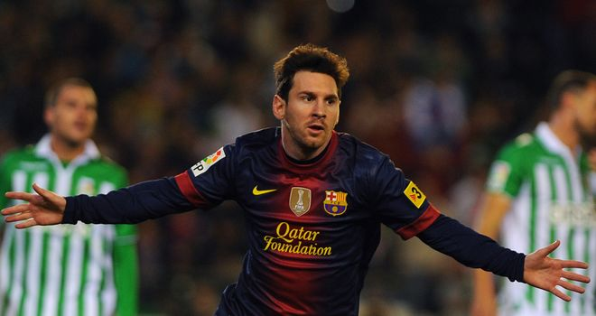 Lionel Messi: Has scored 88 goals in 2012 so far