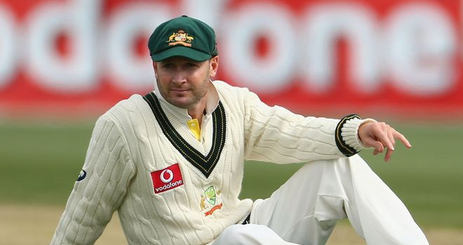 Michael Clarke: injured his hamstring in Hobart