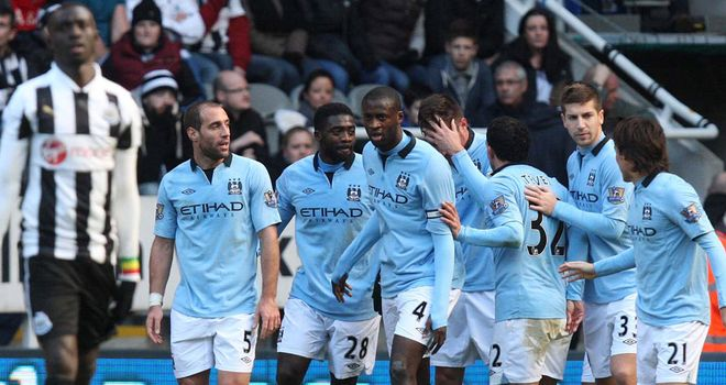 Manchester City were in ruthless mood as they bounced back at Newcastle