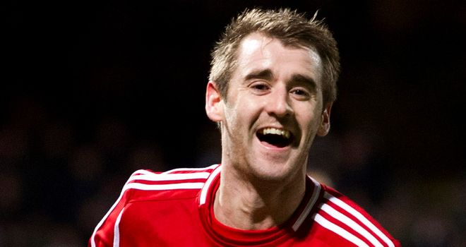 Niall McGinn: Scored both goals in Aberdeen's 2-0 win over Hearts