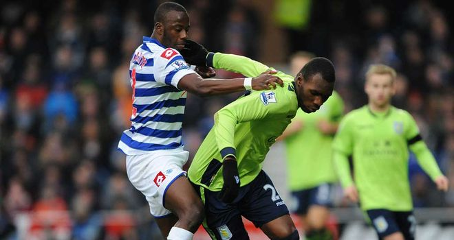 Samba Diakite: In action for QPR against Aston Villa