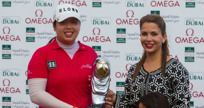 Shanshan Feng: secured the trophy with a closing 69