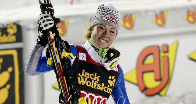 Mikaela Shiffrin: had twice before finished on the podium, including in Finland this year