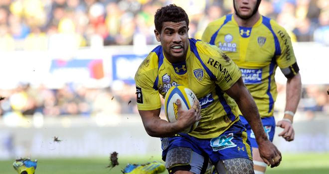Wesley Fofana: bagged a brace of tries for Clermont in their lop-sided victory over Bayonne