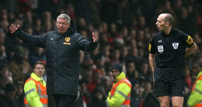 Sir Alex Ferguson: Fumes at referee Mike Dean