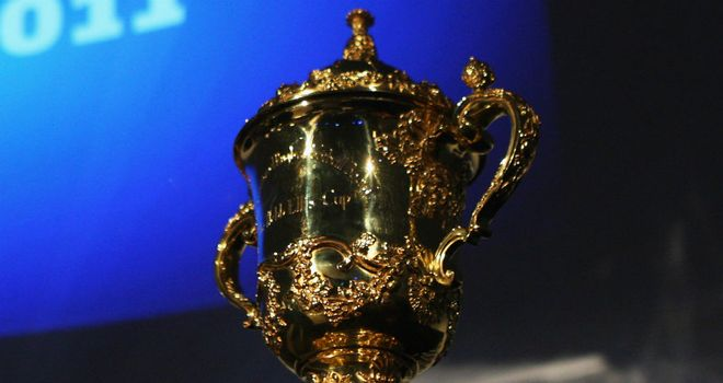 The Webb Ellis trophy: currently held by New Zealand, but who will hold it aloft in 2015?