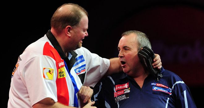 Van Barneveld & Taylor: fell out during World Championship clash