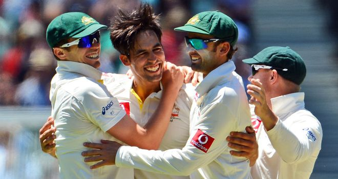Mitchell Johnson: the left-arm paceman led the way for Australia with 4-63
