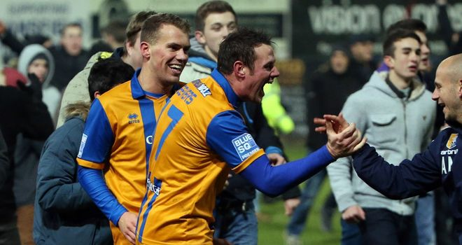 Louis Briscoe: Celebrates after scoring winner
