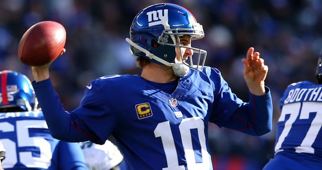 Eli Manning: threw a career-high five touchdown passes in the season finale at MetLife Stadium