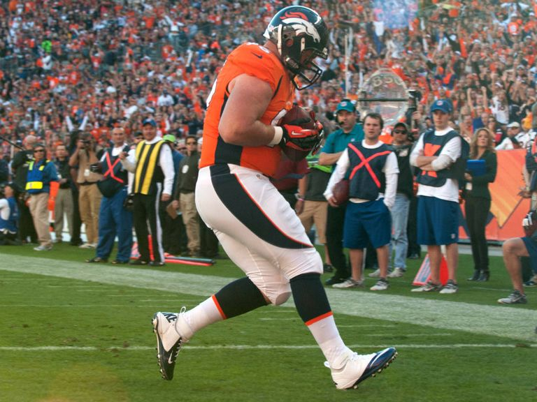 Mitch Unrein: Surprise touchdown scorer for the Broncos