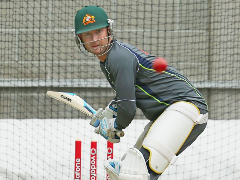 Michael Clarke: Struggling with a hamstring injury