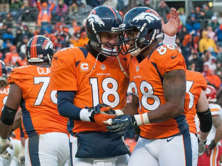 Peyton Manning: Celebrates yet another win for Denver