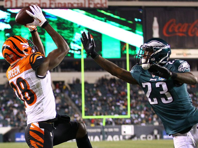 AJ Green hauls in a touchdown pass from Dalton