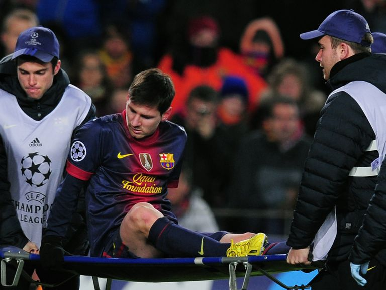 Messi suffered an injury against Benfica