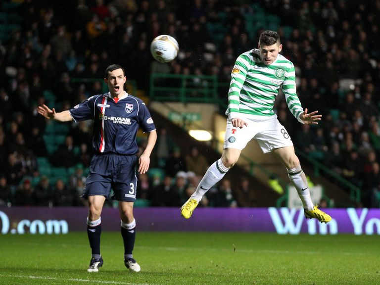 Gary Hooper scores Celtic's third goal