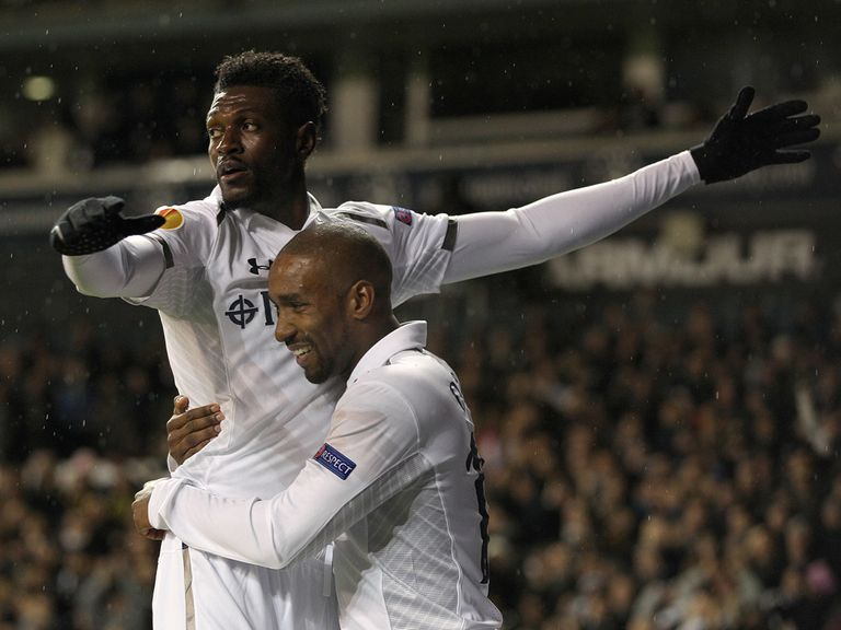 Adebayor and Defoe have been backed by Friedel.