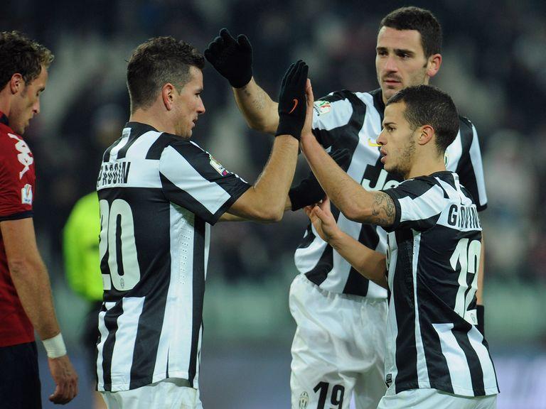 Juventus celebrate Sebastian Giovinco's goal