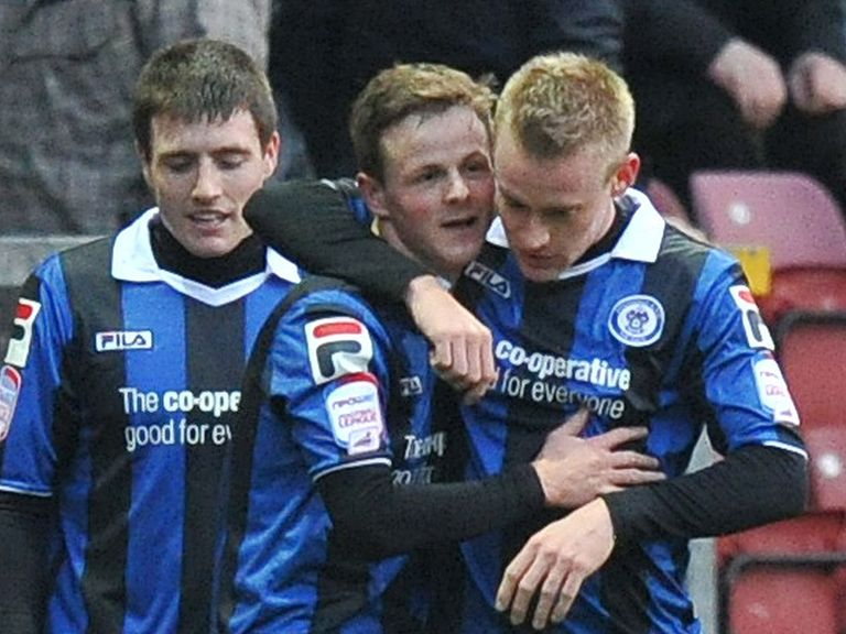 Celebrations for Rochdale at Bradford