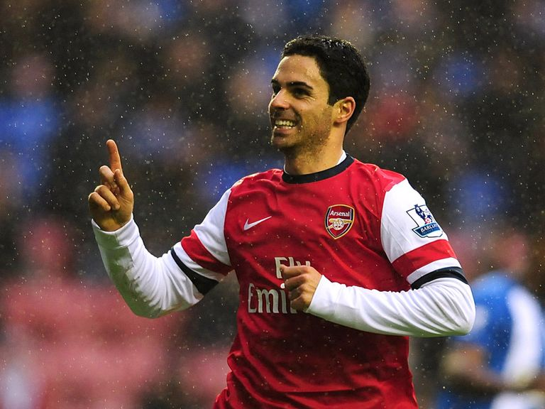 Mikel Arteta's goal took Arsenal up to third